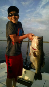Orlando bass fishing trip lunker