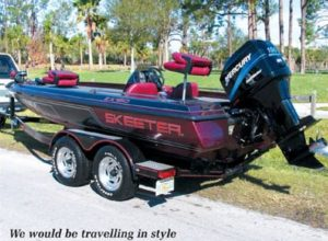 Skeeter fishing guide boat